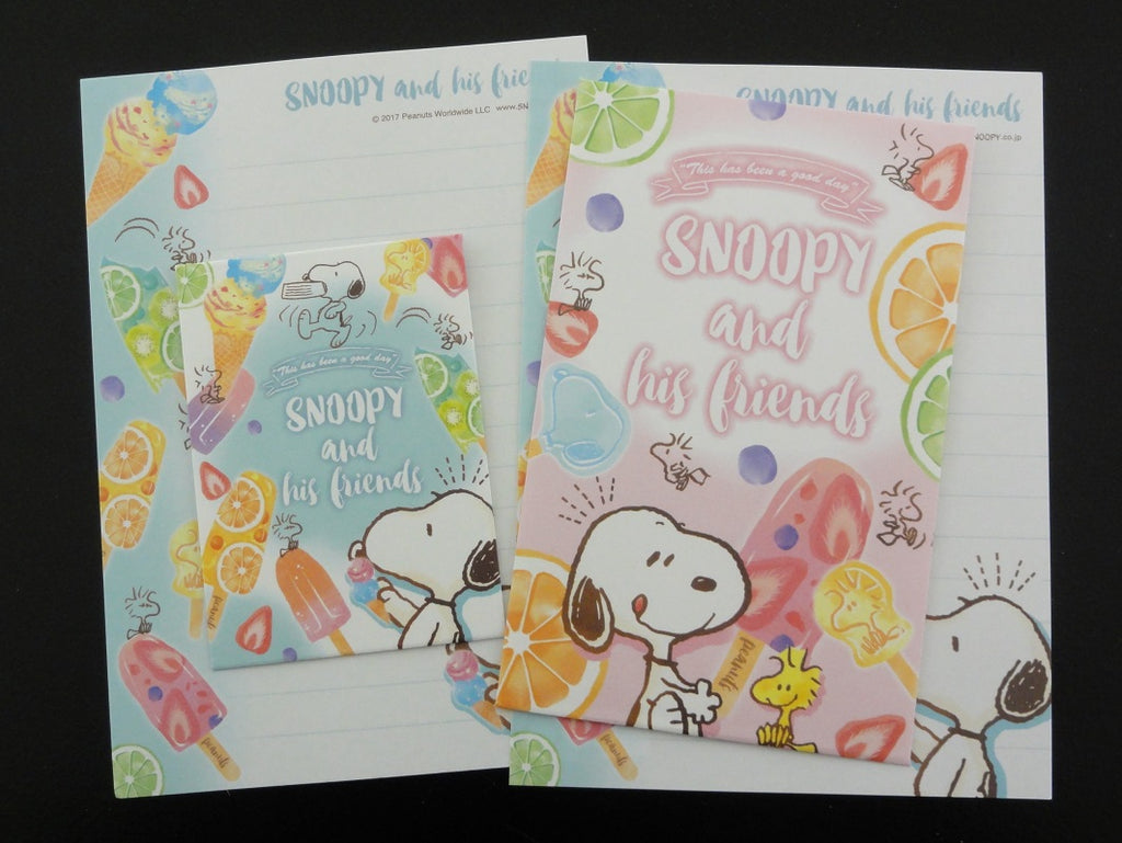 Cute Kawaii Kamio Peanuts Snoopy Mini Letter Sets - F - Stationery Small Note Envelope