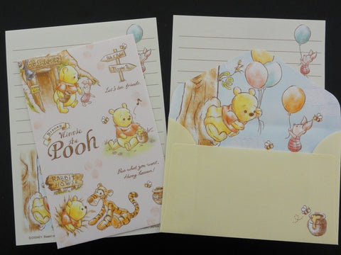 Cute Kawaii Kamio Winnie the Pooh Bear Honey Mini Letter Sets - Stationery Small Note Envelope