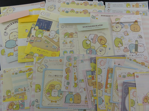 San-X Sumikko Gurashi Study Friends Stationery Set - Penpal Writing Paper Envelope
