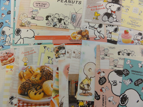 Cute Kawaii Snoopy Peanuts Writing Letter Paper + Envelope Stationery Theme Set