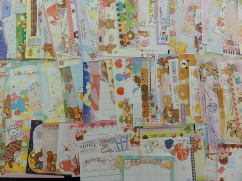 Bear Theme Mini Memo Note Paper Set - 100 pcs