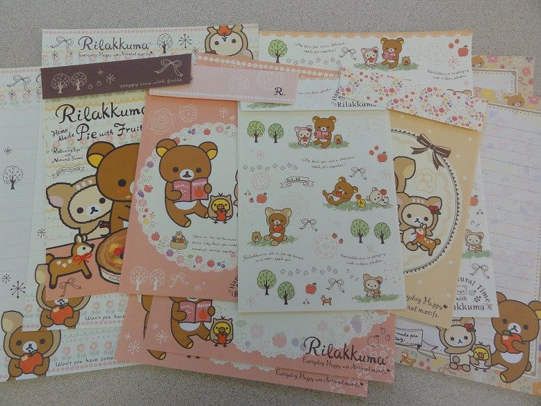 San-X Rilakkuma Bear Autumn Nature Letter Sets