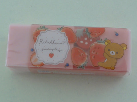 Cute Kawaii San-X Rilakkuma Strawberry Scented Eraser - A
