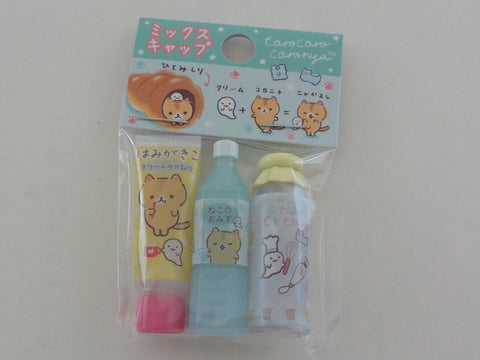 Cute Kawaii San-X CorocorocoroNya Warm Bread Cat Pencil Caps - A