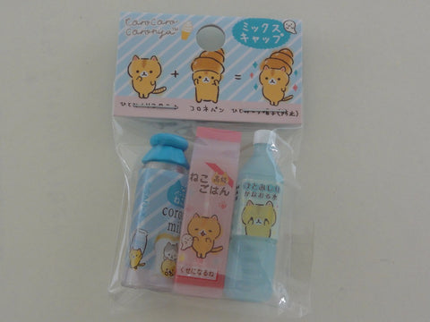 Cute Kawaii San-X CorocorocoroNya Warm Bread Cat Pencil Caps - B