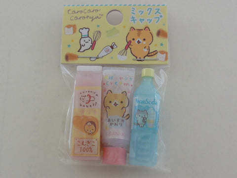 Cute Kawaii San-X CorocorocoroNya Warm Bread Cat Pencil Caps - C