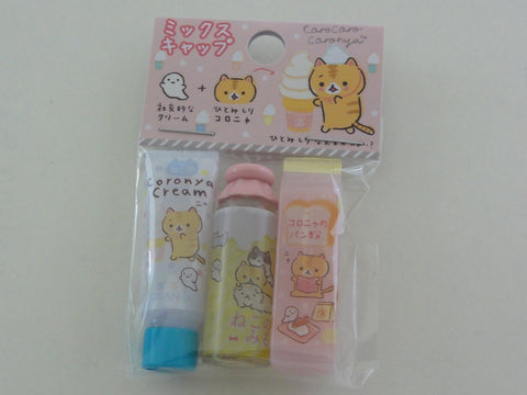 Cute Kawaii San-X CorocorocoroNya Warm Bread Cat Pencil Caps - D