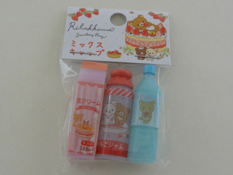 Cute Kawaii San-X Rilakkuma Strawberry Pencil Caps - A