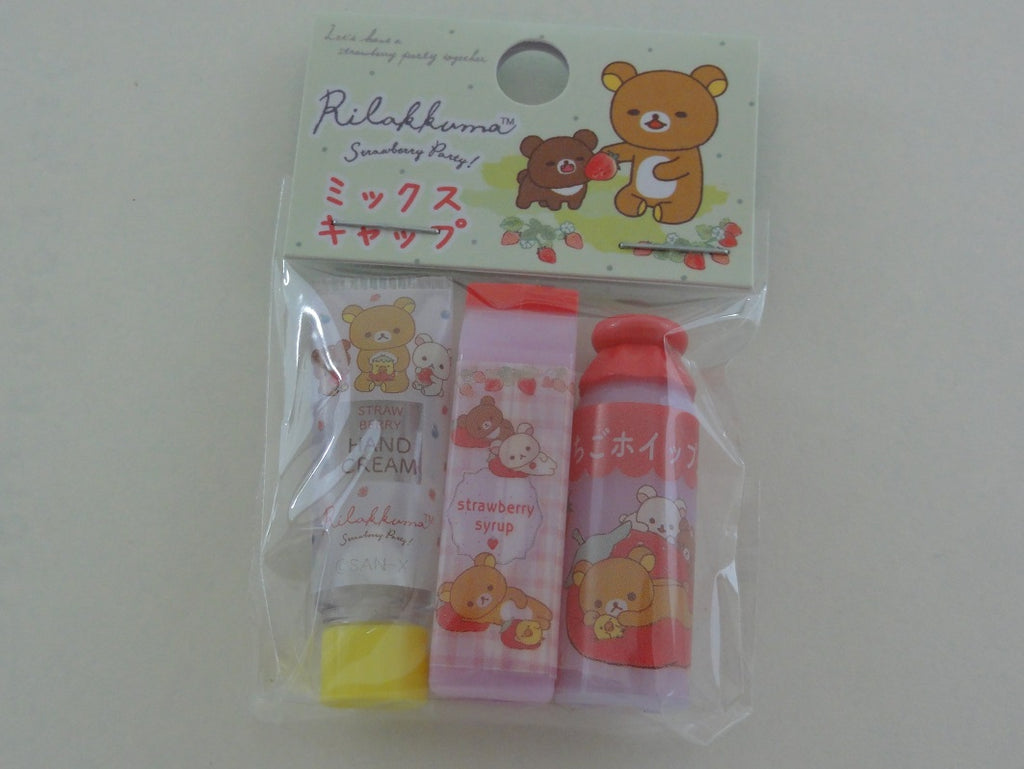 Cute Kawaii San-X Rilakkuma Strawberry Pencil Caps - B