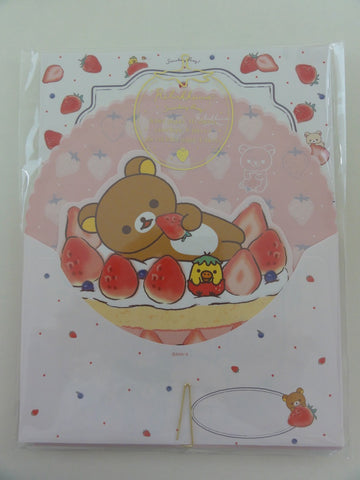 Cute Kawaii San-X Rilakkuma Strawberry Letter Set Pack  - Stationery Writing Paper Envelope