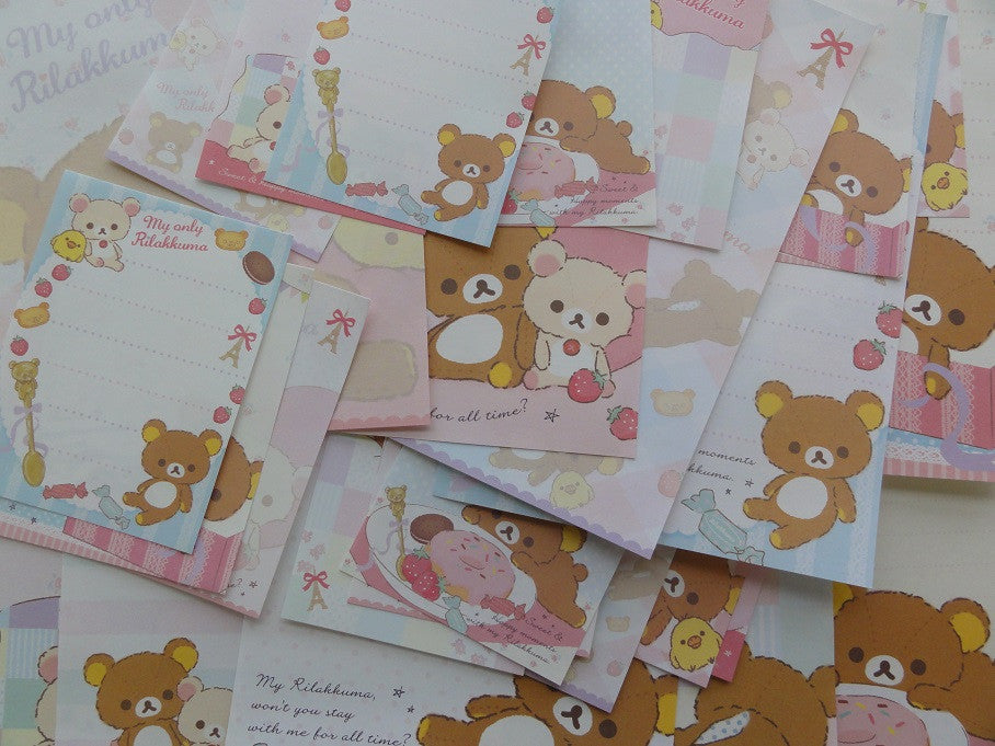 San-X Rilakkuma Bear My Only Memo Note Paper Set
