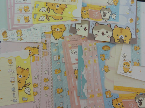 San-X Coro Nya Cat 36 pc Memo Note Paper Set - stationery writing