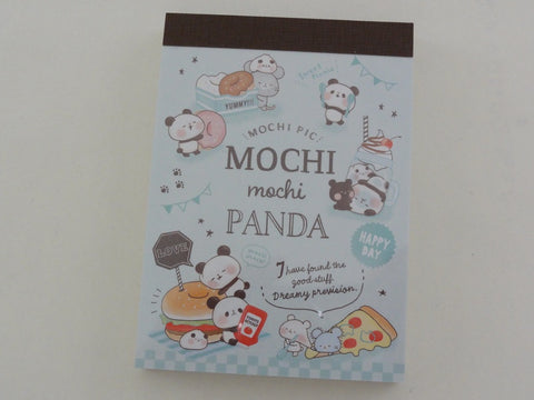 Kawaii Cute Kamio Mochi Panda Mini Notepad / Memo Pad - D - Stationery Design Writing Collection