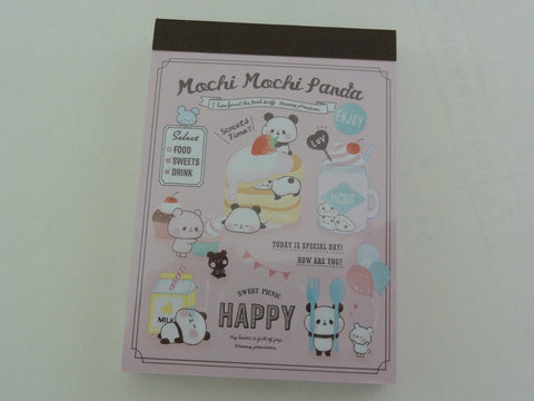 Kawaii Cute Kamio Mochi Panda Mini Notepad / Memo Pad - E - Stationery Design Writing Collection