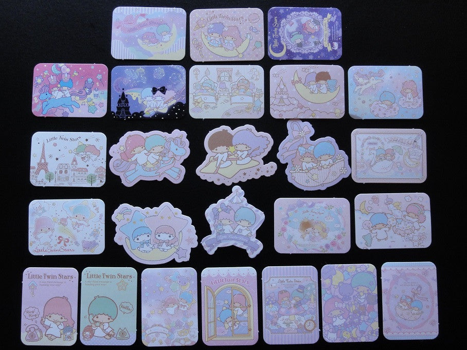 Sanrio Little Twin Stars Flake Sack Stickers - 25 pcs