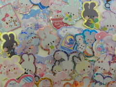 Cute Kawaii Rabbit Bunny Flake Stickers - 40 pcs - for Journal Decorate Planner Scrapboooking Agenda