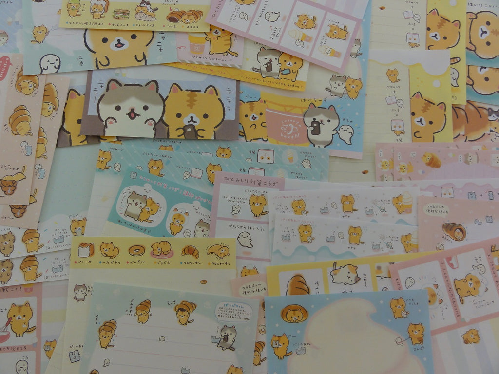 San-X Coro Nya Cat 40 pc Memo Note Paper Set - stationery writing journal pen pal