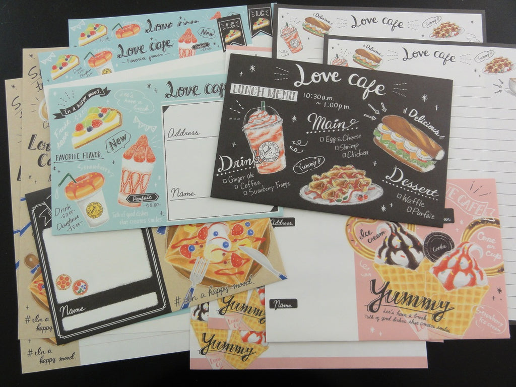 Cute Kawaii Kamio Love Cafe Letter Sets - Stationery Writing Paper Envelope Penpal