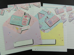 Cute Kawaii Crux Frappe Ice Cream Dessert Sweet Letter Sets - Stationery Writing Paper Envelope Penpal