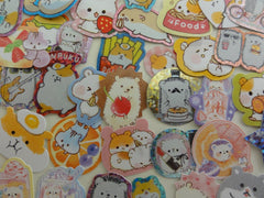 Cute Kawaii Hamster Hedgehog Squirrel Flake Stickers - 38 pcs - for Craft Journal Planner