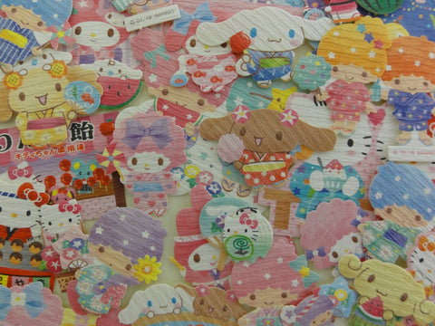 Cute Kawaii Sanrio Characters Hello Kitty My Melody Little Twin Stars Cinnamoroll Flake Sack Stickers - 40 pcs - 2018 A