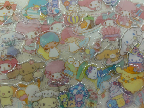 Cute Kawaii Sanrio Characters Cinnamoroll Hello Kitty My Melody Little Twin Stars Purin Pochacco Keroppi Tuxedosam Flake Sack Stickers - 40 pcs - 2018 B
