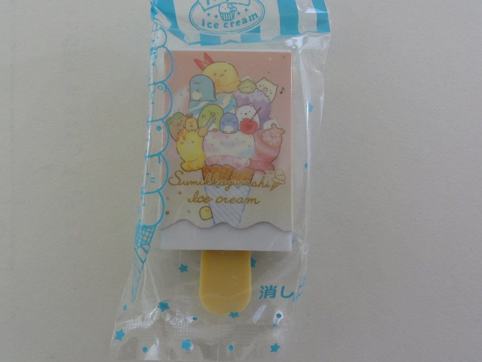 Cute Kawaii San-X Sumikko Gurashi Ice Cream theme Eraser - B