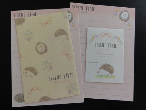 Cute Kawaii Crux Serene Time Hedgehog Mini Letter Sets - Small Writing Note Envelope Set Stationery