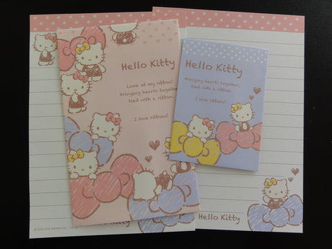 Cute Kawaii Sanrio Hello Kitty Love Ribbons Mini Letter Sets - Stationery small Note Envelope