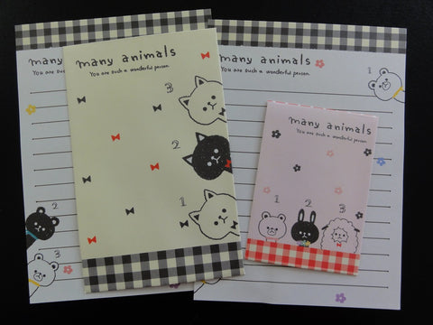 Cute Kawaii Crux Many Animals Mini Letter Sets - Small Writing Note Envelope Set Stationery