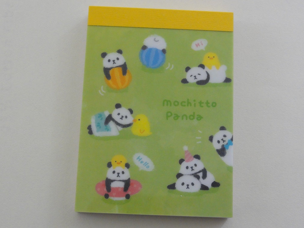 Cute Kawaii Mind Wave Mochitto Summer Panda Mini Notepad / Memo Pad - Stationery Design Writing Collection