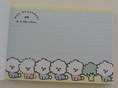 Cute Kawaii Crux Wankorori Dog Puppies Mini Notepad / Memo Pad - Stationery Design Writing Collection