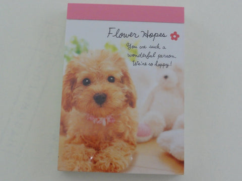 Cute Kawaii Crux Dog Puppies Mini Notepad / Memo Pad - Stationery Design Writing Collection