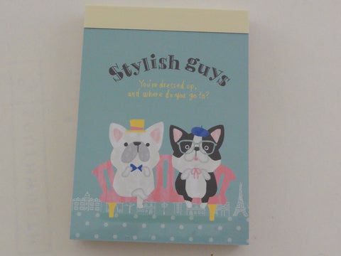 Cute Kawaii Crux Dog Stylish Guys Mini Notepad / Memo Pad - Stationery Design Writing Collection
