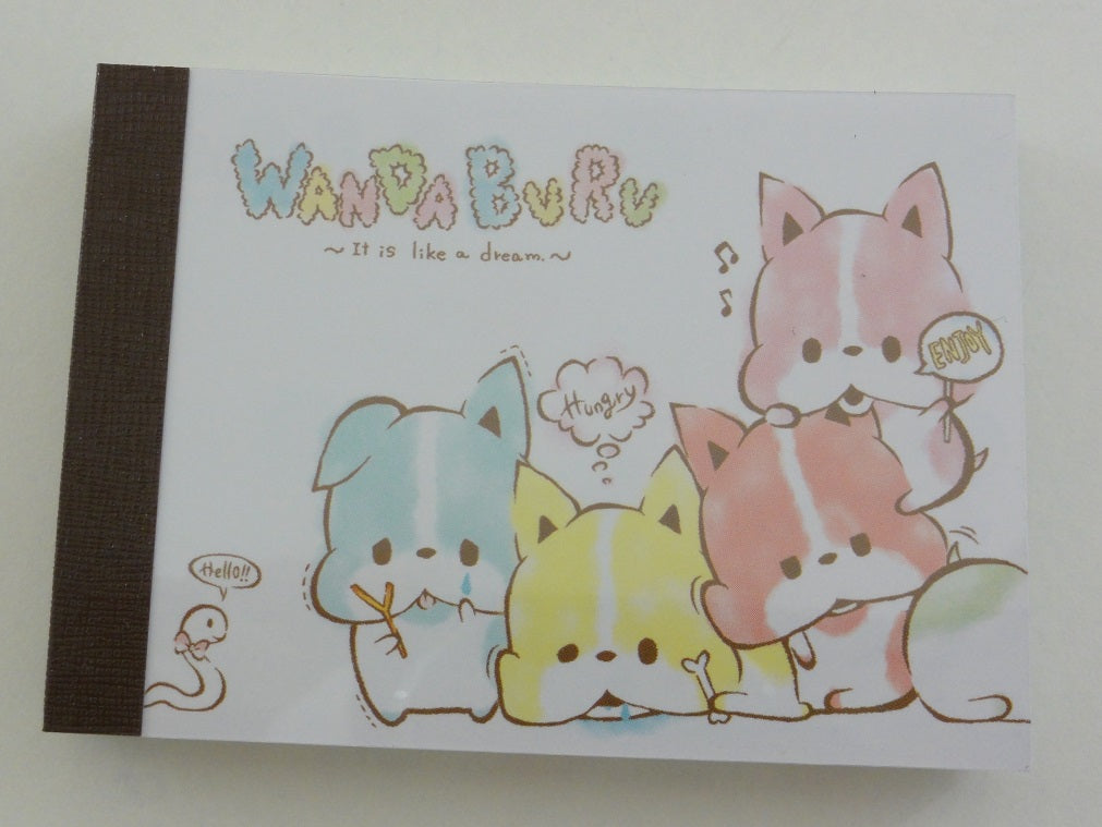 Cute Kawaii Crux Wanda Buru Dog Puppies Mini Notepad / Memo Pad - Stationery Design Writing Collection