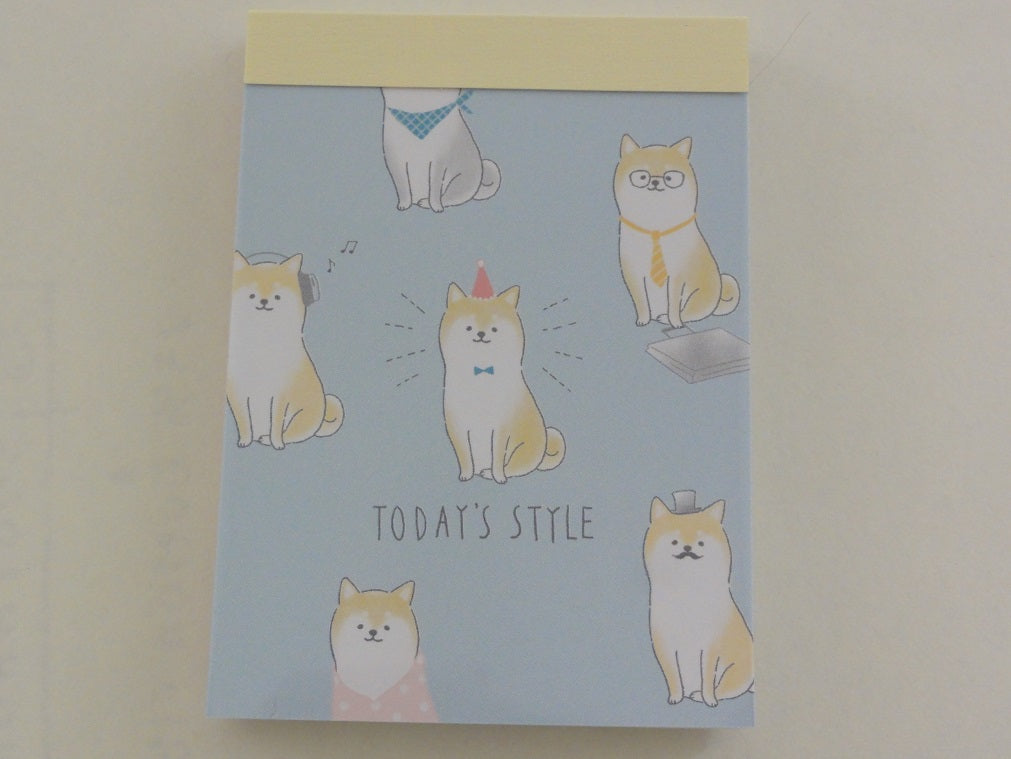 z Cute Kawaii Crux Dog Today's Style Mini Notepad / Memo Pad - Stationery Design Writing Collection