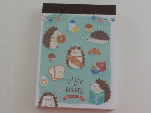 Cute Kawaii Q-Lia Hedgehog Little Bakery Mini Notepad / Memo Pad - Stationery Design Writing Collection
