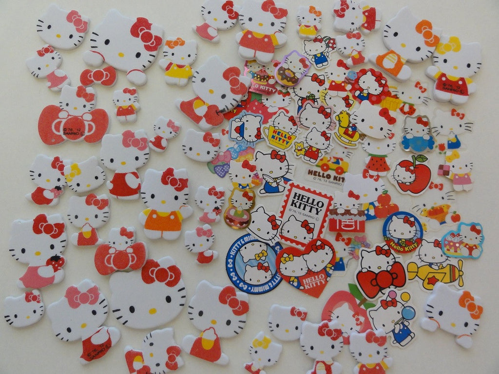 Sanrio Hello Kitty Flake Sack Stickers - 75 pcs