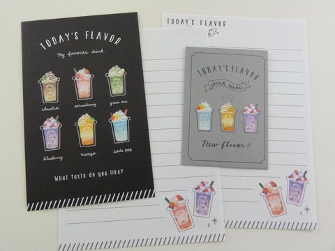 Cute Kawaii Crux Cafe Time Coffee Flavor Cold Drink Mini Letter Sets - Small Writing Note Envelope Set Stationery