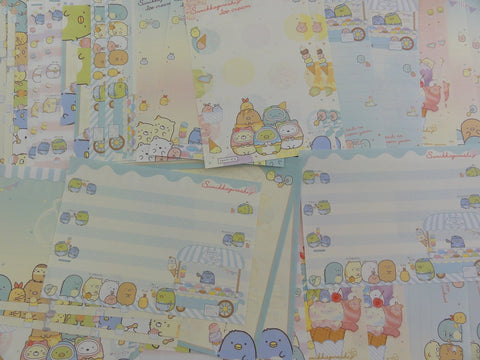 San-X Sumikko Gurashi Ice Cream Memo Note Writing Paper Set - stationery writing journal penpal