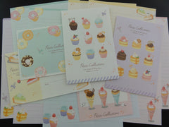 Cute Kawaii Crux Muffin Sweet Collection Letter Sets - Stationery Writing Paper Envelope Penpal