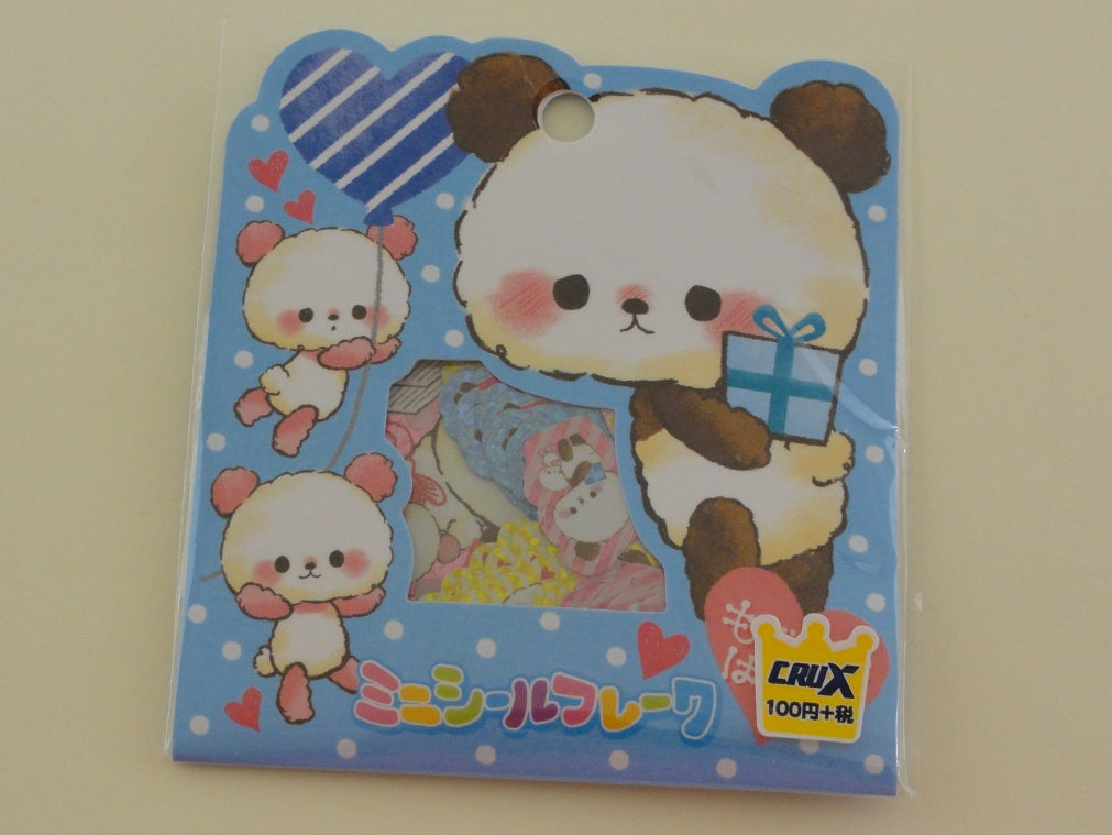 Cute Kawaii Crux Panda Stickers Flake Sack - for Journal Planner Craft Scrapbook