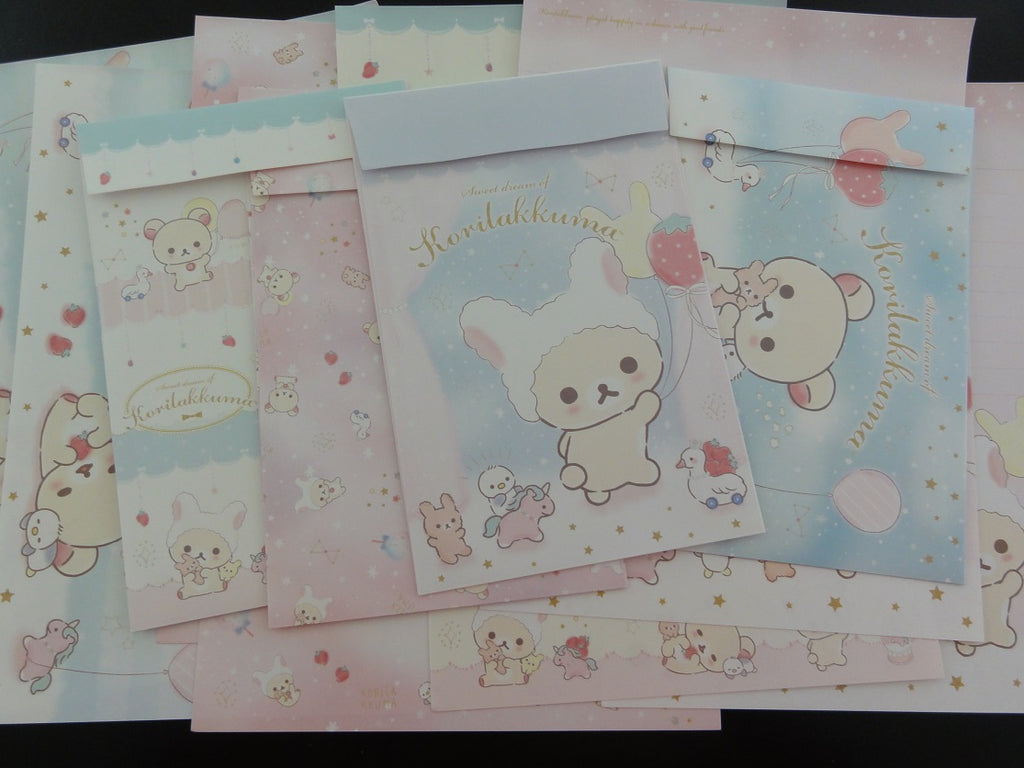 Cute Kawaii San-X Korilakkuma Rilakkuma Letter Sets - B - Stationery Writing Paper Envelope