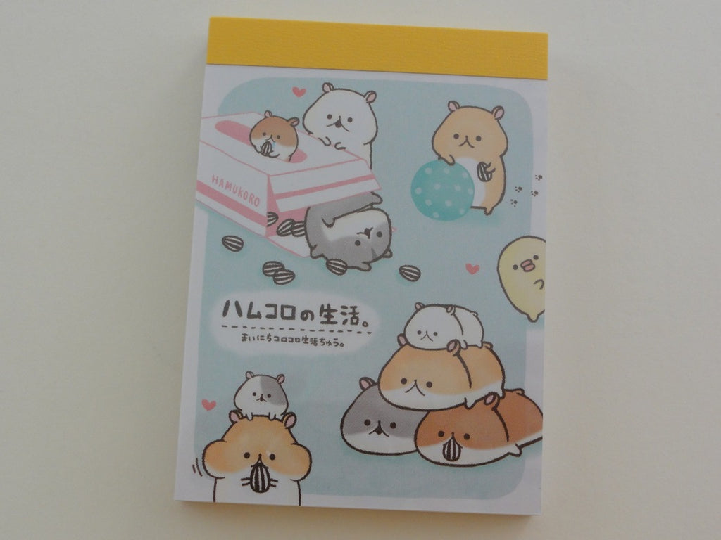Cute Kawaii Kamio Hamster Mini Notepad / Memo Pad - Stationery Design Writing Collection
