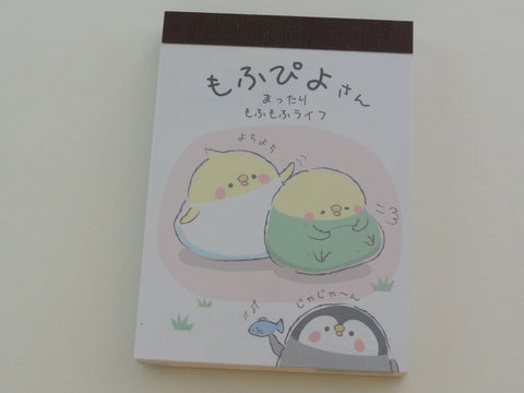 Cute Kawaii Kamio Birds and Penguin Mini Notepad / Memo Pad - Stationery Design Writing Collection