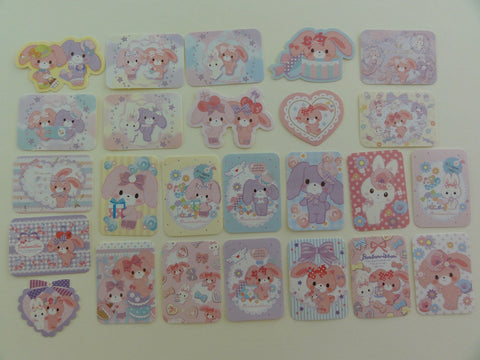 Kawaii Cute Bonbon Ribbon Rabbit Flake Sack Stickers 2014 - 25 pcs - Rare