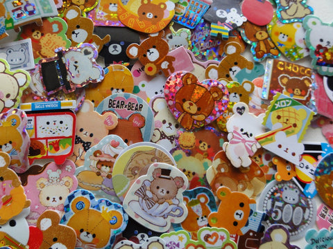 Cute Bear Flake Stickers - 94 pcs