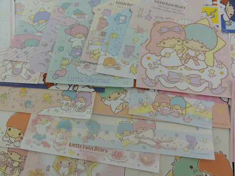 Cute Kawaii Little Twin Stars Paper Memo Note Set Sanrio - for Stationery Writing Scrapbook Art Craft Penpal