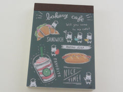 Cute Kawaii Mind Wave Bakery Cafe bear Mini Notepad / Memo Pad - Stationery Design Writing Collection