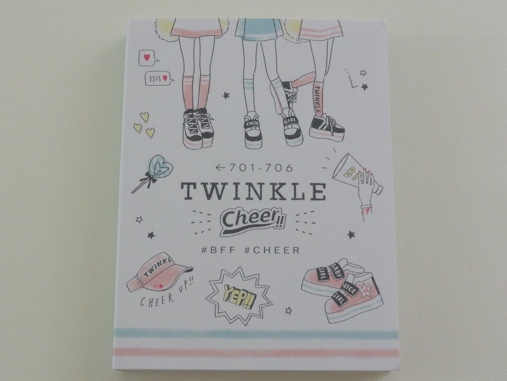 Cute Kawaii Kamio #Twinkle #BFF #Cheer Mini Notepad / Memo Pad - Stationery Design Writing Collection
